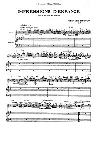 Enescu - Impressions d enfance op.28 for violin - Piano part - first page