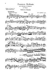 Ernst - Brilliant fantasy on Othello theme Op.11 for violin - Instrument part - first page
