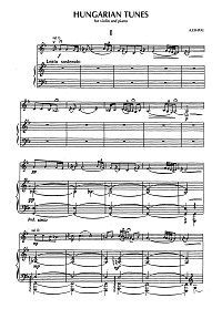 Eshpai - Hungarian tunes for violin and piano - Piano part - first page