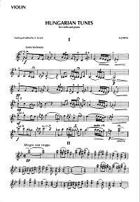Eshpai - Hungarian tunes for violin and piano - Instrument part - first page
