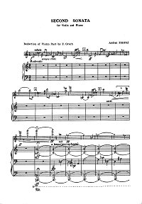 Eshpai - Violin sonata N2 - Piano part - first page
