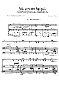 Falla Manuel - Suite Populaire Espagnole for cello - Piano part - first page