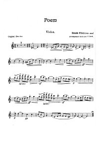 Fibich - Poem for violin - Instrument part - First page