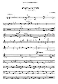 Firtich - Sonata for viola and piano (1988) - Instrument part - first page