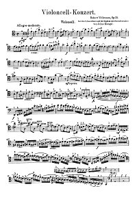 Volkmann - Cello concerto op.33 - Instrument part - first page
