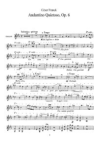 Franck - Andantino for violin - Instrument part - First page