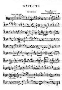 Franceoeur - Gavotte for cello and piano - Instrument part - first page