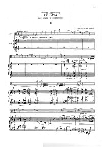 Frid - Viola sonata - Piano part - first page