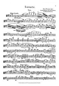 Gade - sonata for violin and piano op.6 - Viola part - First page