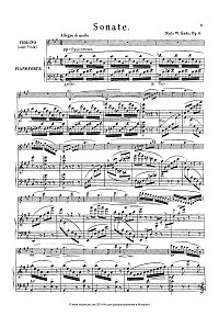 Gade - sonata for violin and piano op.6 - Piano part - First page