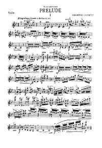 Gerschwin - Preludes for violin (Heifetz) - Instrument part - First page