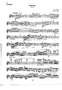 Gliere - Romance for violin - Instrument part - first page