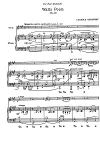 Godowsky - Avowal for violin - Piano part - first page