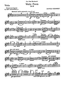 Godowsky - Avowal for violin - Instrument part - first page