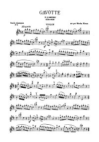 Gossek - Gavotte for violin (Elmann) - Instrument part - First page
