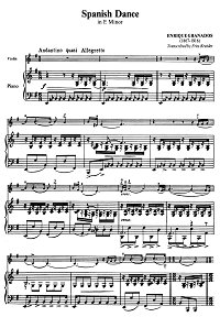 Granados - Spanish dance for violin op.5 - Piano part - First page