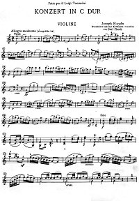 Haydn - Violin Concerto N1 C-dur for violin - Instrument part - First page