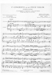 Haydn - Violin Concerto N1 C-dur for violin - Piano part - First page