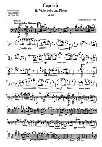 Hindemith - 3 pieces for cello op.8 - Instrument part - first page