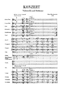 Hindemith - Cello Concerto (1940) - Piano part - first page