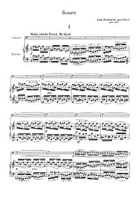 Hindemith - Sonata for cello and piano op.11 N3 - Piano part - first page