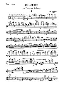 Hindemith - Violin Concerto - Instrument part - first page