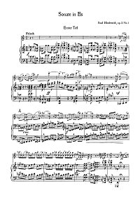 Hindemith - Violin sonata Es-dur op.11 N1 - Piano part - first page