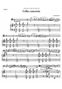 Honegger - Cello concerto - Piano part - first page