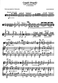 Mussorgsky - Gopak (Hopak) for viola and piano - Piano part - first page