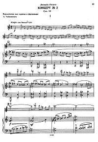 Khrennikov - Violin concerto N2 op.23 - Piano part - first page