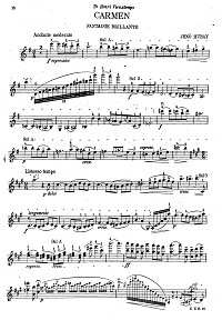 Hubay - Carmen-fantasy for violin - Instrument part - First page