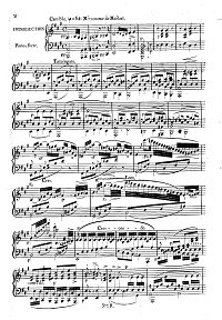 Hummel - Adagio, Variations and Rondo on Russian themes for cello op.78 - Piano part - first page