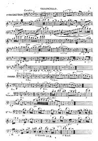 Hummel - Adagio, Variations and Rondo on Russian themes for cello op.78 - Instrument part - first page