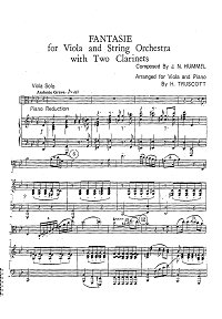 Hummel - Fantasy for Viola - Piano part - First page