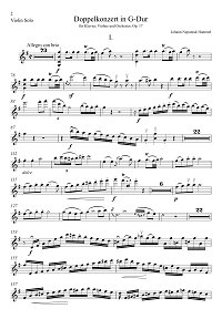 Hummel - Violin concerto op.17  - Instrument part - first page