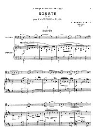 Indy - Cello sonata D-dur op.84 - Piano part - first page