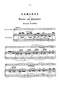 Joachim - Romance for violin and piano - Piano part - first page