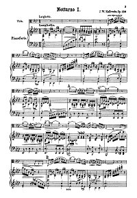 Kalliwoda - 6 nocturnes for viola op.186 - Piano part - first page