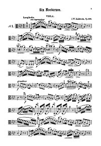 Kalliwoda - 6 nocturnes for viola op.186 - Instrument part - first page