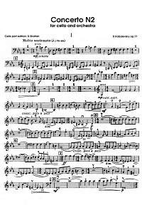 Kabalevsky - Cello concerto N2 op.77 - Instrument part - first page
