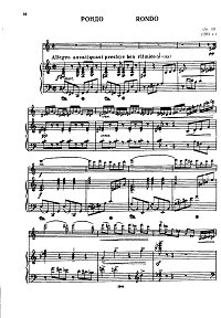 Kabalevsky - Rondo for violin op.69 - Piano part - first page