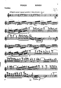 Kabalevsky - Rondo for violin op.69 - Instrument part - first page