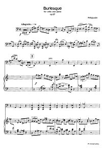 Kapustin - Burlesque for cello op.97 - Piano part - first page