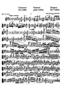 Karlovich - Violin concerto - Instrument part - First page