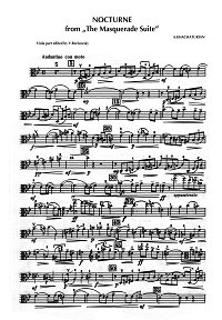 Khachaturian - Nocturne for viola and piano - Viola part - first page