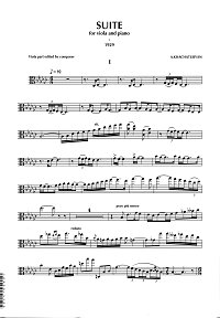 Khachaturian - Viola suite - Viola part - first page