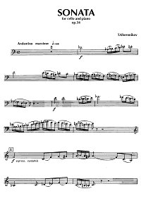 Khrennikov - Cello sonata op.34 - Instrument part - first page