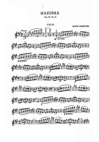 Chopin - Mazurka op.33 N2 - Kreisler - Instrument part - First page