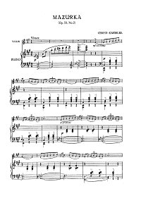 Chopin - Mazurka op.33 N2 - Kreisler - Piano part - First page