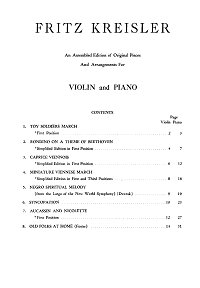 Kreisler - Compilations for violin (8 pieces) - Piano part - First page